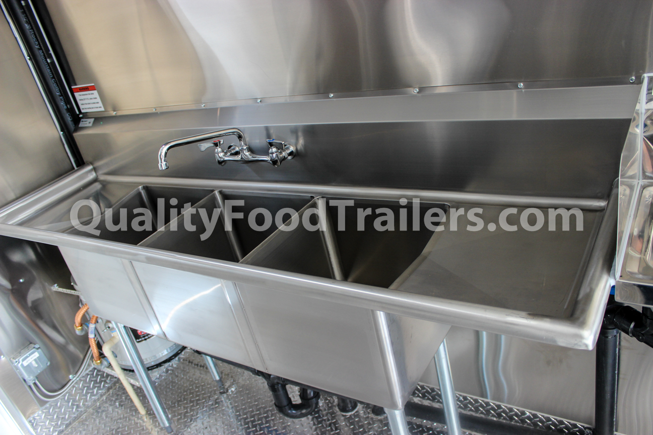 double axle 16 ft concession trailer